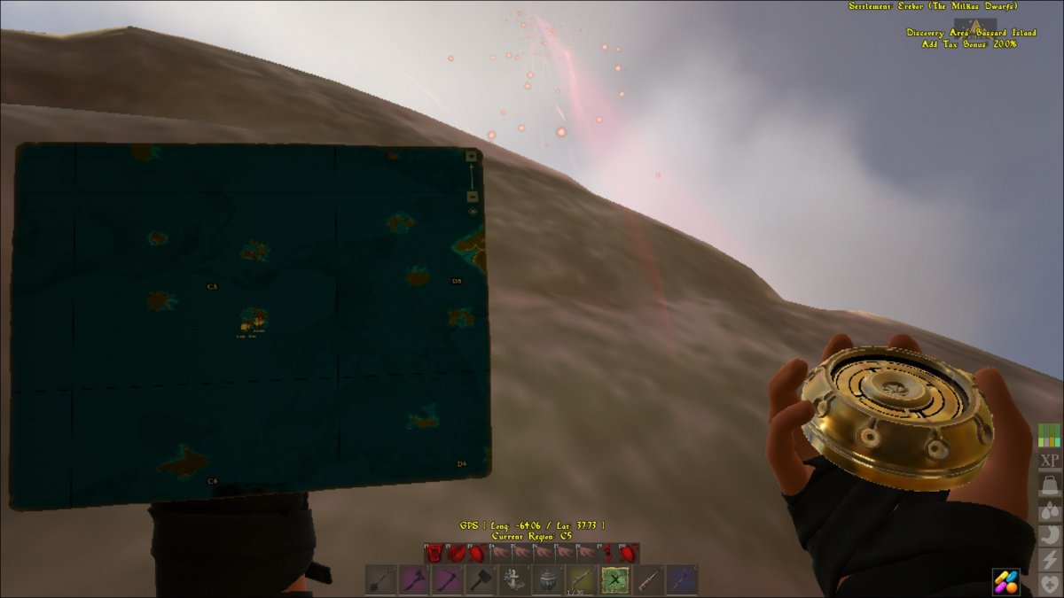 Glitching Treasure Map Location in C5 Bassard Island - Bug